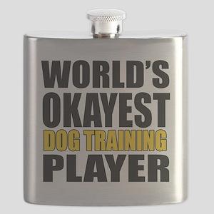 Worlds Okayest Dog Training Player Designs Flask