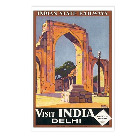 Delhi India Postcards (Package of 8)
