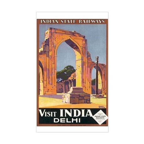 Delhi India Rectangle Sticker