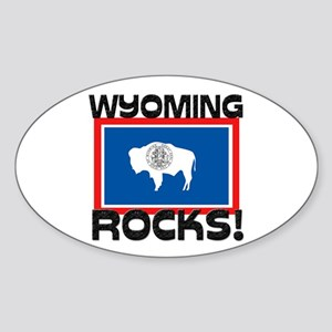 Wyoming Rocks! Oval Sticker