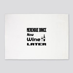 Merengue Dance Now Wine Later 5'x7'Area Rug