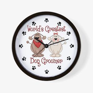 World's Greatest Dog Groomer Wall Clock