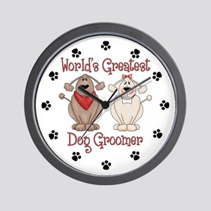 World's Greatest Dog Groomer Wall Clock