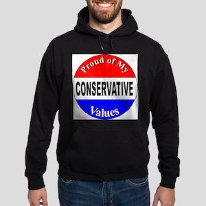 Proud Conservative Values Hoodie (dark)