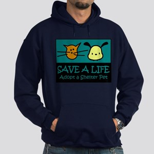 Save A Life Adopt a Pet Hoodie (dark)