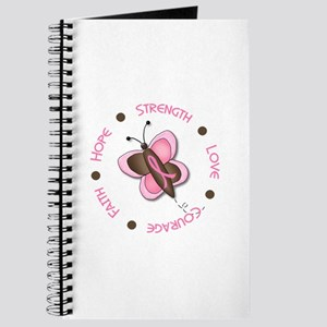 Hope Courage 1 Butterfly 2 PINK Journal