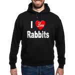 I love Rabbits for Rabbit Lov Hoodie (dark)