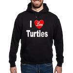 I Love Turtles Hoodie (dark)