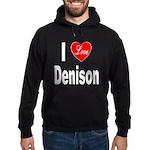 I Love Denison Hoodie (dark)