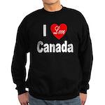 I Love Canada Sweatshirt (dark)