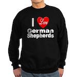I Love German Shepherds Sweatshirt (dark)