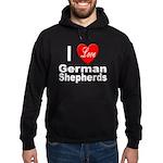 I Love German Shepherds Hoodie (dark)