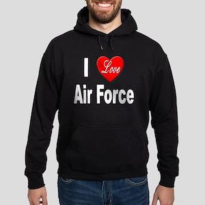 I Love Air Force Hoodie (dark)