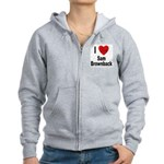 I Love Sam Brownback Women's Zip Hoodie