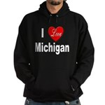 I Love Michigan Hoodie (dark)