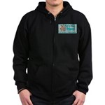 Find a New Friend Zip Hoodie (dark)