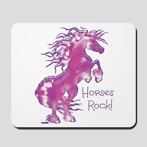 Horses Rock Purple Gummy- Mousepad