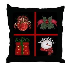 The Christmas Window Throw Pillow