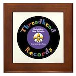Threadhead Records Framed Tile
