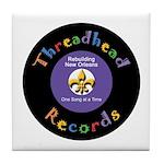 Threadhead Records Tile Coaster