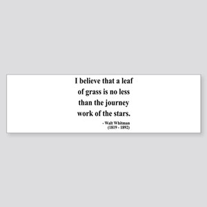 Walt Whitman 19 Bumper Sticker