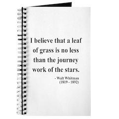 Walt Whitman 19 Journal