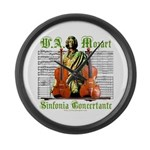 Mozart Sinfonia Concertante Large Wall Clock