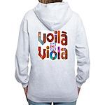 """""""Voila Viola"""" Women's Zip Hoodie"""