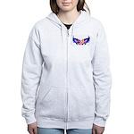 Heart Flag Women's Zip Hoodie