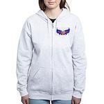 Heart Flag ver4 Women's Zip Hoodie