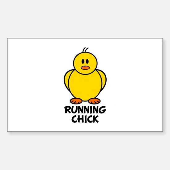 Running Chick Rectangle Decal