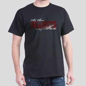 My Aunt is My Hero - Fire & Rescue Dark T-Shirt