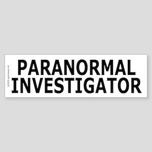 Paranormal Investigator Pro Bumper Sticker