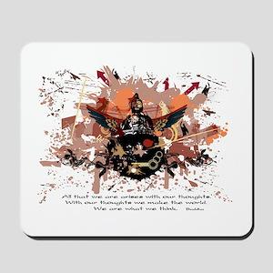 Buddha Buddhist Grunge Mousepad