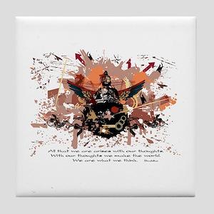 Buddha Buddhist Grunge Tile Coaster