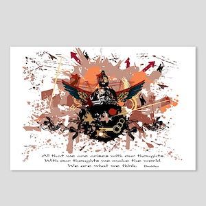 Buddha Buddhist Grunge Postcards (Package of 8)