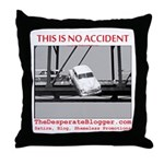 TheDesperateBlogger.com Throw Pillow