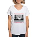 TheDesperateBlogger.com Women's V-Neck T-Shirt