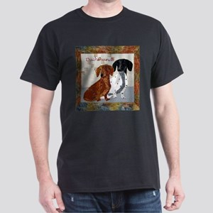 Quilted Dachshunds Dark T-Shirt