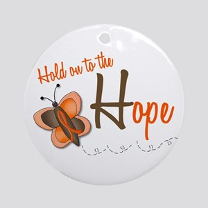 Hold On To Hope 1 Butterfly 2 ORANGE Ornament (Rou