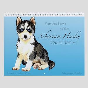 Siberian Husky Wall Calendar