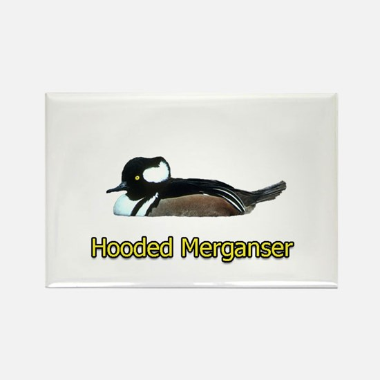 Hooded Merganser (titled) Rectangle Magnet