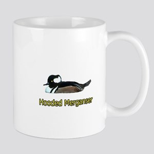 Hooded Merganser (titled) Mug
