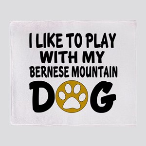 Play With Bernese Mountain Designs Throw Blanket