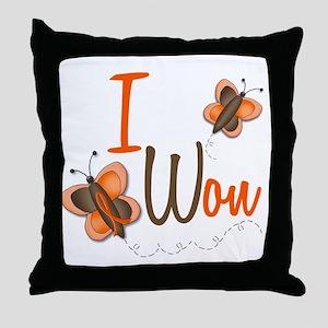 I Won 1 Butterfly 2 ORANGE Throw Pillow