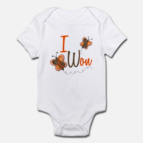 I Won 1 Butterfly 2 ORANGE Infant Bodysuit