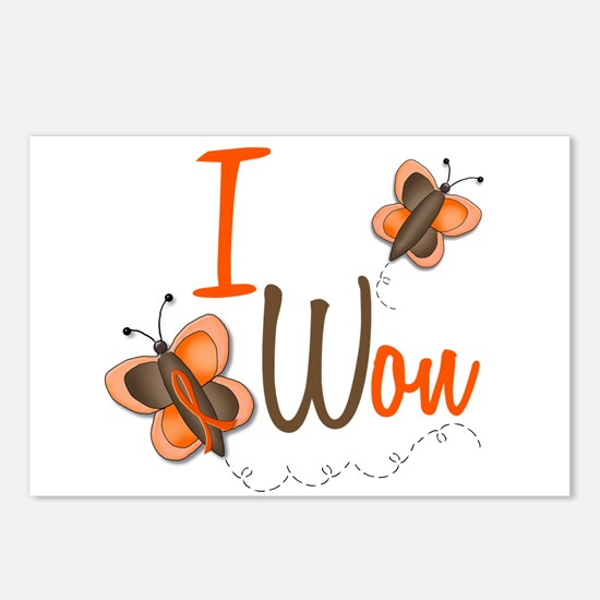 I Won 1 Butterfly 2 ORANGE Postcards (Package of 8