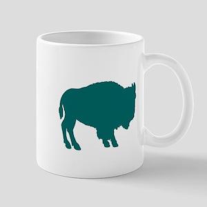 Teal Buffalo Mug
