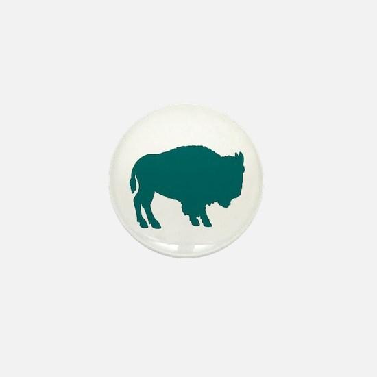 Teal Buffalo Mini Button
