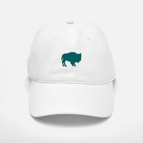 Teal Buffalo Baseball Baseball Cap